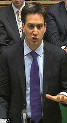 Attack: Ed Miliband will use a speech today to accuse the PM of