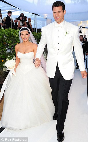 Lookalikes: Kim and Kris tied the knot back in August in their black and white themed wedding