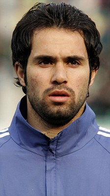 Mohammad Nosrati, pictured playing for Iran in 2006, has been suspended and fined £25,000