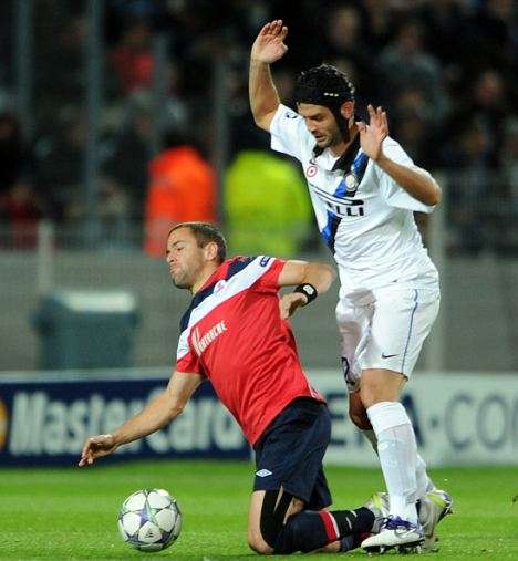 Cut price: Inter Milan defender Cristian Chivu will be a free agent in the summer