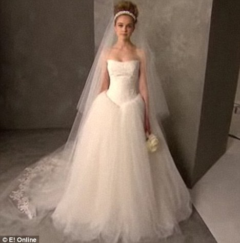 Brands aligned: Vera Wang designed Kim's three wedding dresses, the fittings of which featured heavily in the build up to the wedding