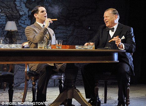Historically gripping: James Alper as Jock Colville and Warren Clarke as Winston Churchill in Three Days in May