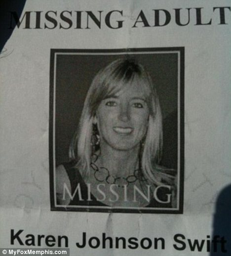 Nightmare: Authorities are working with the phone company to pinpoint the last location of Karen Swift's mobile phone