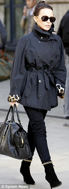 Picking up style notes? Kylie was also elegant in black for a shopping trip in Paris last week