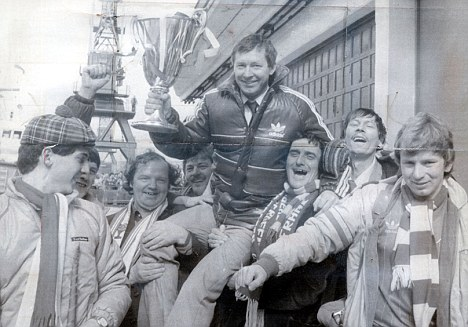 The one that we want: Ferguson had caught the eye after winning the European Cup Winners Cup with Aberdeen