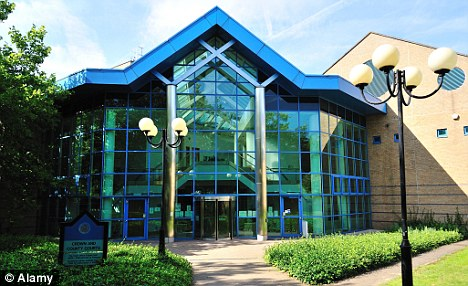 Jailed: John Saxton was sentenced to 35 months imprisonment at Basildon Crown Court (pictured) in Essex