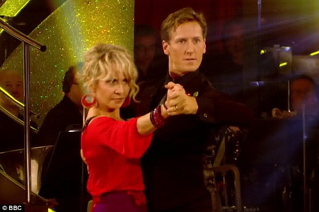 First to dance: Lulu and Brendan Cole opened Saturday's live show with a tango to Prince's Kiss