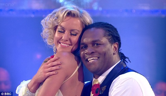 Charming and endearing: Audley Harrison and Natalie Lowe hoped their Viennese Waltz would save them from the bottom two again