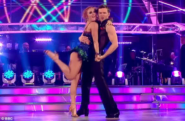 Sizzling: McFly's Harry Judd and Aliona Vilani heated things up with their samba to Stevie Wonder's I Wish