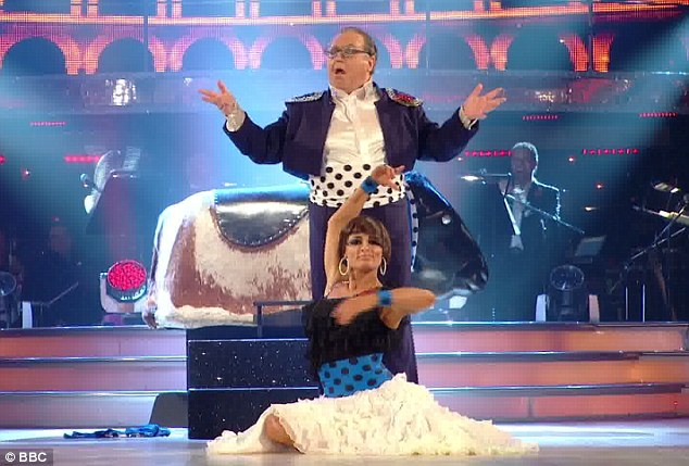 High camp: Russell Grant and Flavia Cacace performed the Paso Doble to Georges Bizet's Carmen