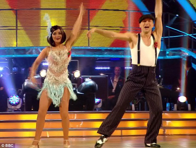 Fast-paced: The couple's energetic Charleston drew praises from all the judges
