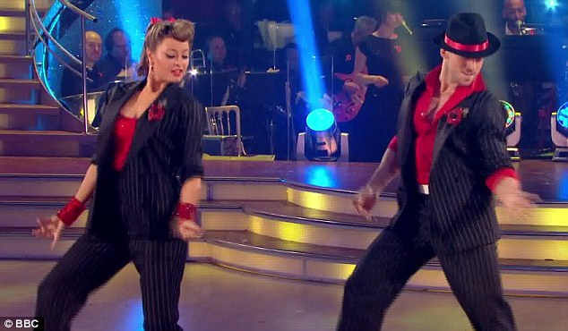Finally some energy: Holly Valance and Artem Chigvintsev's Jive impressed the judges