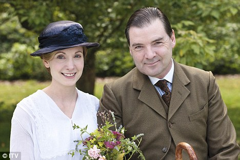 Grand finale: Last night's Downton Abbey, which saw maid Anna marry valet John Bates, saw 10million viewers tune in