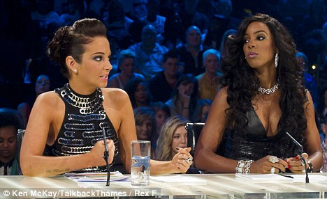How dare you! The girls butted heads two weeks ago when Tulisa accused Kelly's act Misha B of 'backstage bullying'