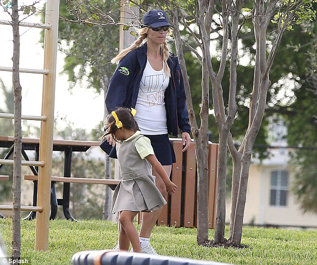 Sporty Ms. Nordegren: The former model spends time with her kids in Florida