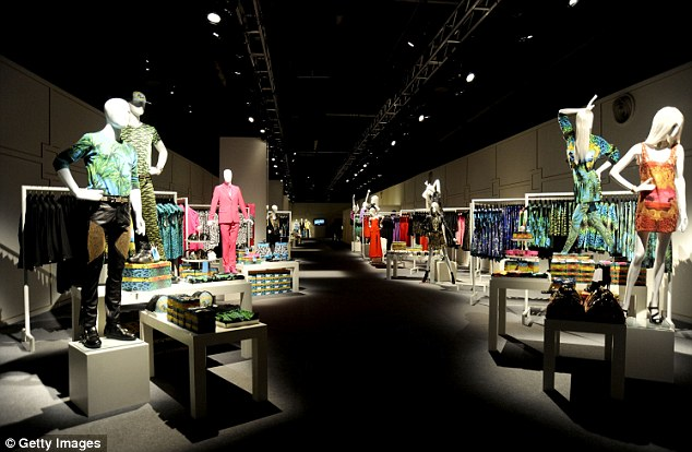 Launch night: The event marked the collaboration of Versace for H&M for a new fashion collection