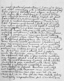 Madonna's hand-written letter to Stephen Lewicki asking him for a job