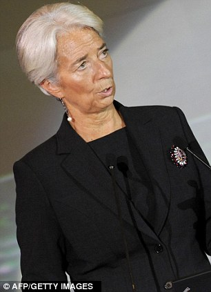Warning: International Monetary Fund chief Christine Lagarde fears a downward spiral of uncertainty, financial instability and a collapse in global demand