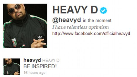 Final message: Heavy D's last twitter post to his fans