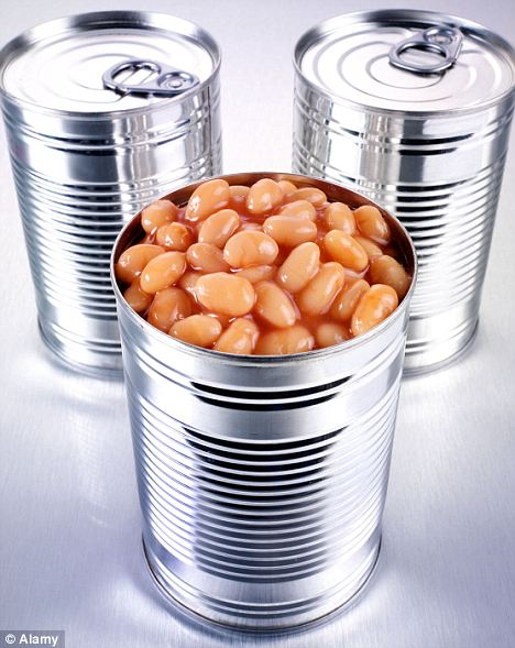 Fresh idea: Tin cans are invaluable because they stop our food going off