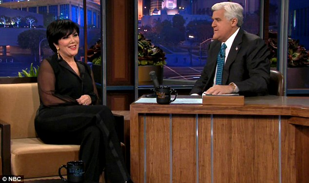 Keeping up with the Kardashians: Kris was on the Jay Leno show to promote her new book All things Kardashian
