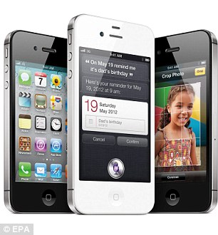 The touchscreen and display unit of Apple's iPhone 4S cost £23