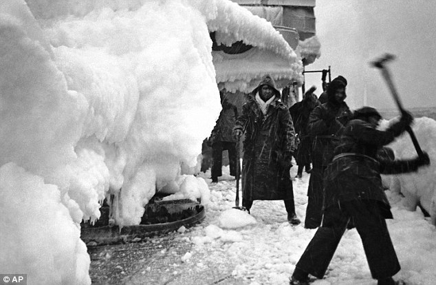 Harrowing conditions: Thousands of sailors risked their lives in Arctic conditions to support the Russian war effort during the Second World war