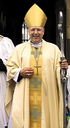 Family fall-out: The Bishop of Grimsby David Rossdale said 'everyone in the family will benefit' from the sale of the vase