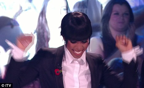 Scripted: Kelly Rowland was excited to find out that Amelia had won the public vote