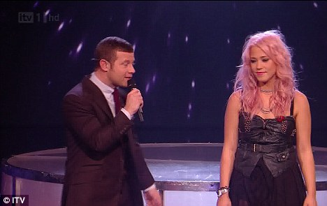 The host with the most: Dermot O'Leary interviews Amelia after her performance