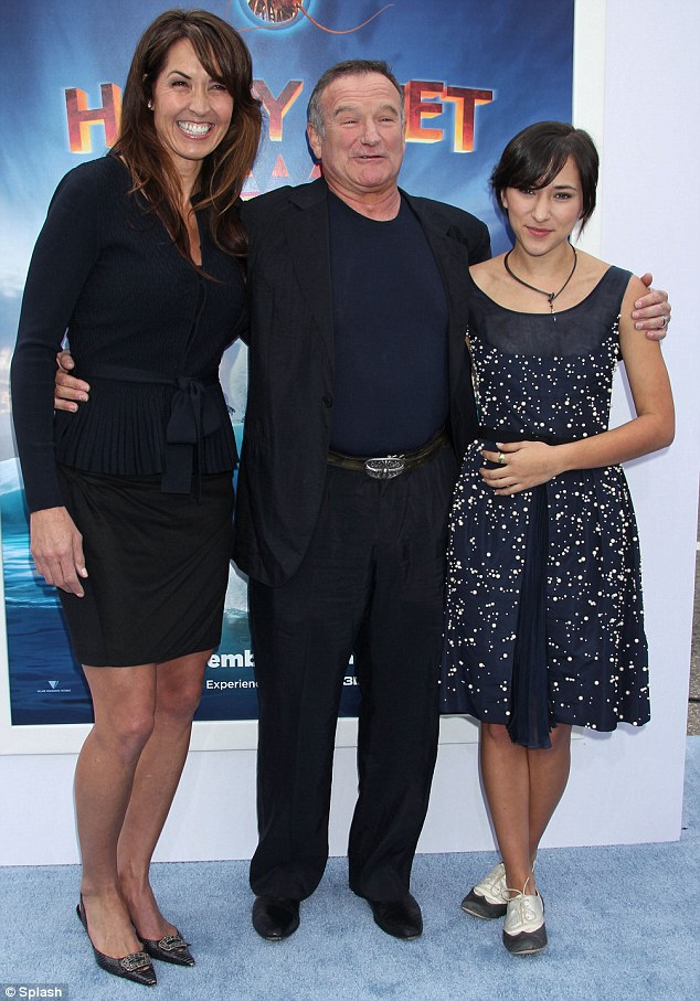 Newlyweds: Robin Williams also made the day a family affair by bringing his new wife, graphic designer Susan Schneider, and his 21-yer-old daughter Zelda Rae