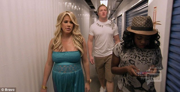 Reality show stars: Kim's meeting with Kroy was featured on the hit Real Housewives of Atlanta