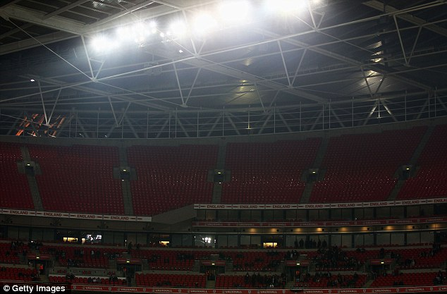 You're sitting in my seat: Large parts of Wembley's upper tier were empty