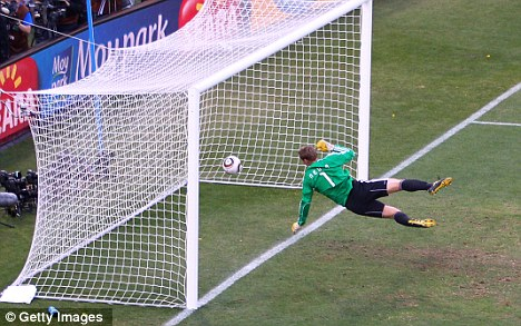Line call: Lampard's 'goal' against Germany caused uproar at the World Cup