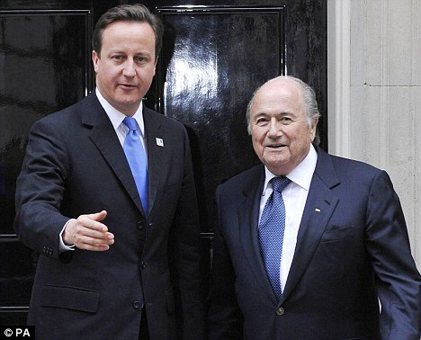 Unmoved: Blatter has come under attack for the European chief