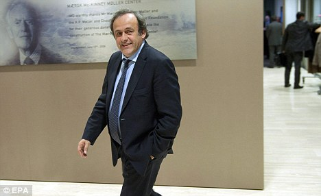Outspoken: Platini has hit out at Blatter's lack of support for extra officials