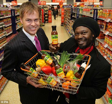 Dragon: Mr Roots told investor Peter Jones, left, that he had been selling the sauce for 15 years