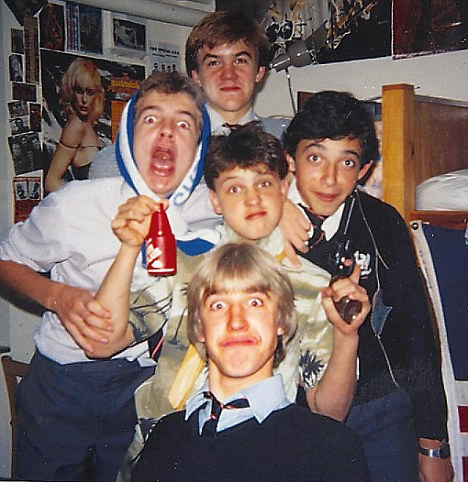 Comedian Tim Vine (pictured centre front) 44, younger brother of Radio 2 presenter Jeremy Vine, stars in BBC sitcom Not Going Out, and won last year's Best Joke award at the Edinburgh Fringe