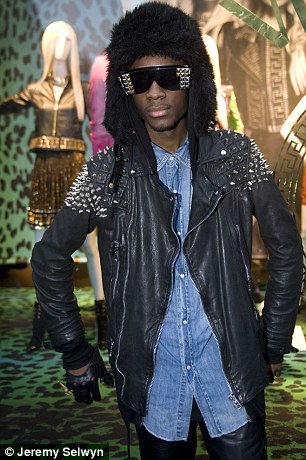 Neco attended the Versace x H&M collection