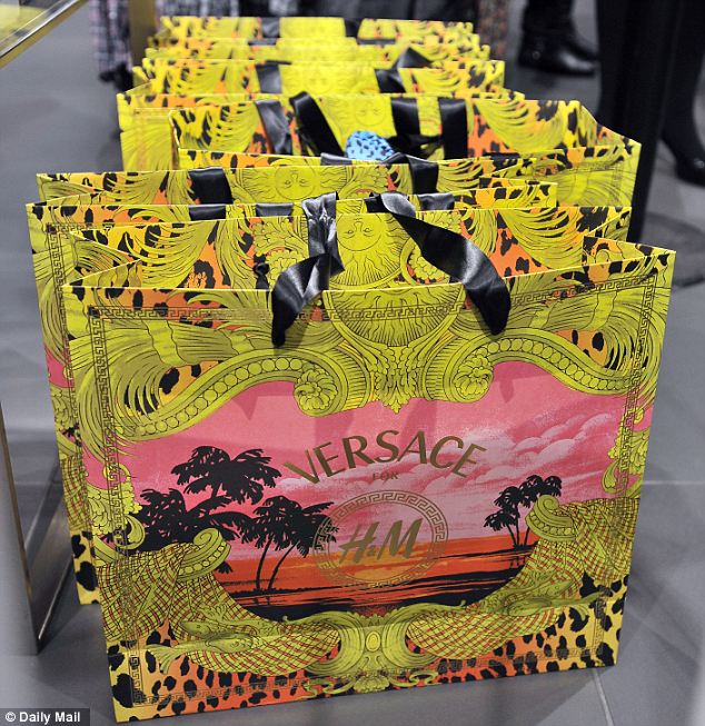 Line up: These Versace bags won't stay empty for long
