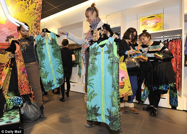 Choices, choices: Shoppers could only buy one of each size in every garment