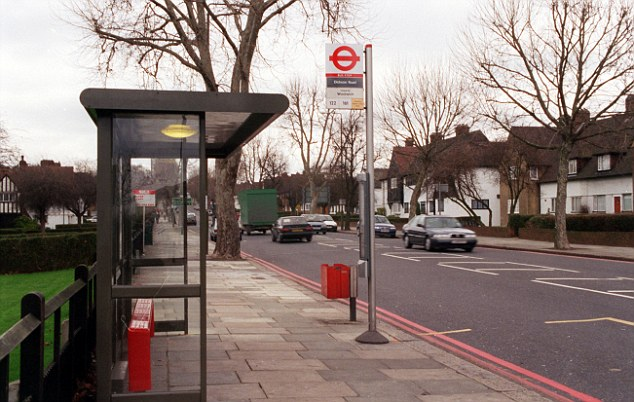 The Eltham bus stop where Stephen was killed