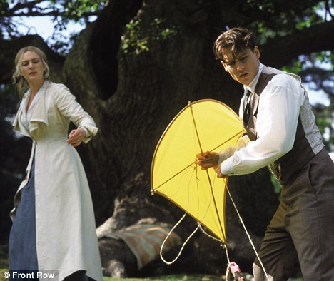 Film version: Kate Winslet (left) and Johnny Depp (right) starred in the 2004 film Finding Neverland