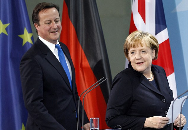 Dave seems to have seen something he likes, and Ms Merkel knows how to shake what her mama gave her!