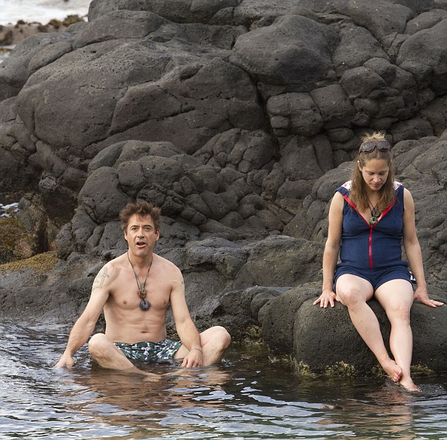 Idyllic break: The couple married in 2005 after Downey Jr met producer Susan on the set of Gothika