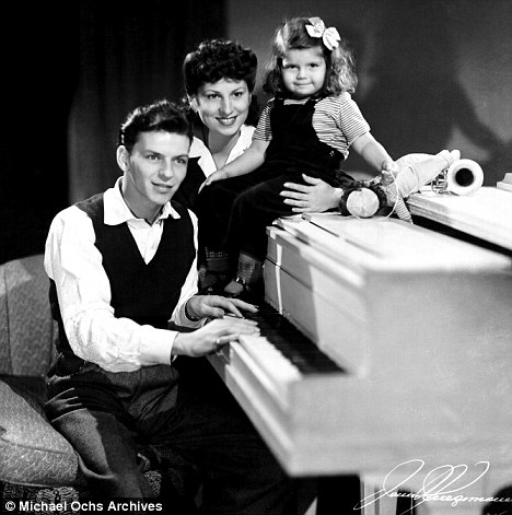 Family man: Sinatra with his wife and daughter both called Nancy Sinatra