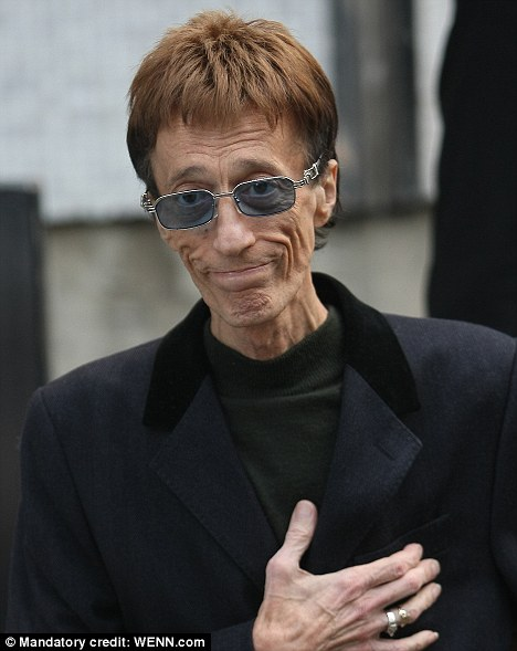 Bee Gees star Robin Gibb, 61, has been secretly battling liver cancer for several months