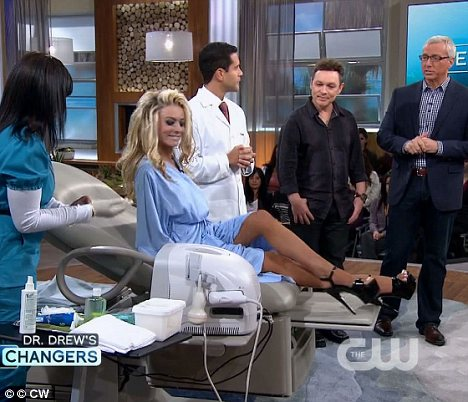 No surgery? Earlier this month Courtney and her husband appeared on Dr Drew's Lifechangers show to prove her breasts are real