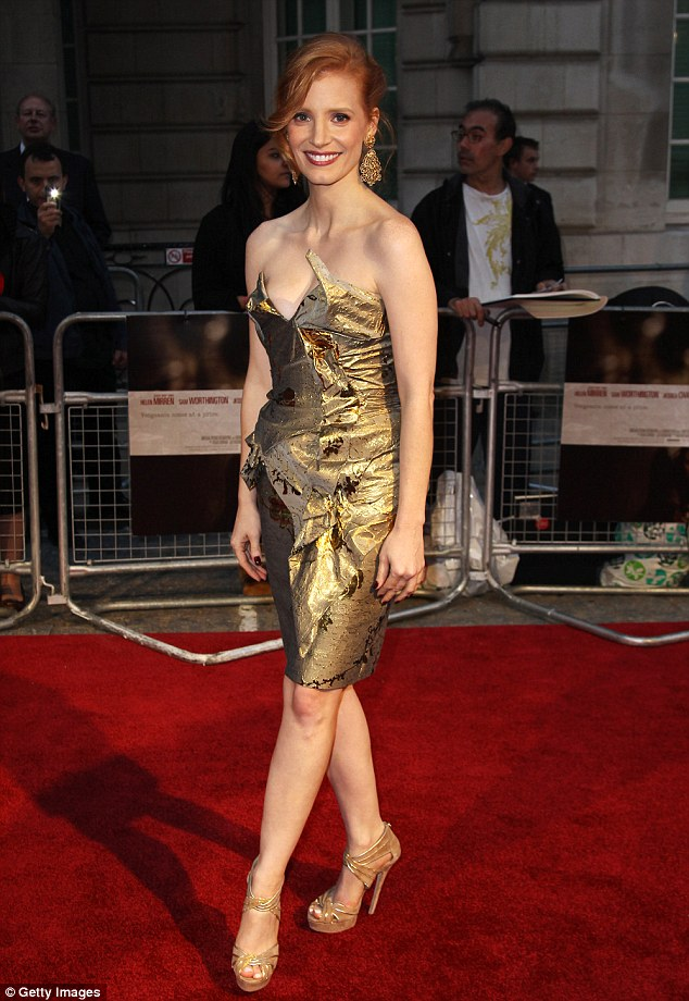 Jessica Chastain at the UK premiere of The Debt in London in September