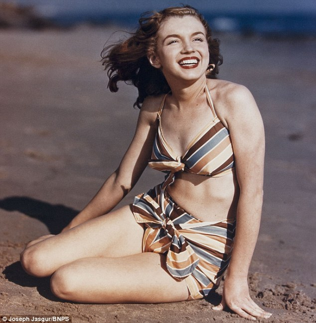 First professional photoshoot: Marilyn Monroe, then called Norma Jeane, pictured by the late Joseph Jasgur when she was 19-years-old in West Hollywood